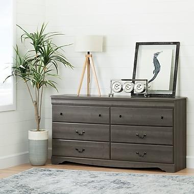 South Shore Vintage 6-Drawer Double Dresser, Gray Maple (10303)