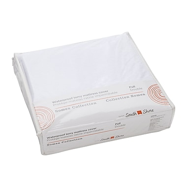 South Shore Somea White Waterproof Mattress Cover, Full Size (100172)