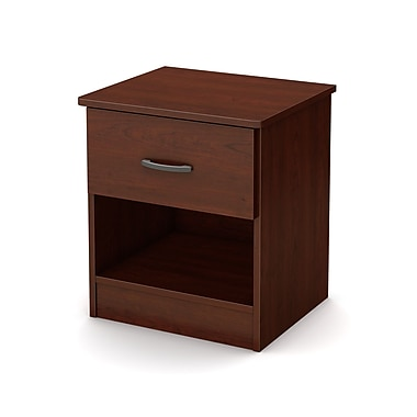 South Shore Libra 1-Drawer Nightstand, Royal Cherry (10083)