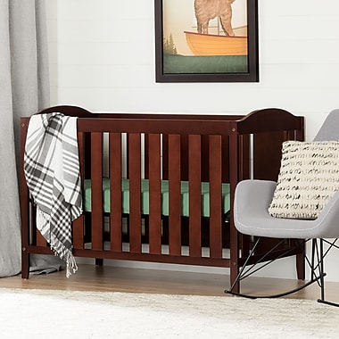South Shore Fundy Tide Crib and Toddler's Bed, Royal Cherry (10723)