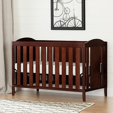 South Shore Angel Crib & Toddler's Bed with Mattress, Royal Cherry (100260)
