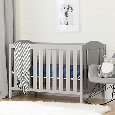 South Shore Angel Crib and Toddler's Bed, Soft Gray (10590)