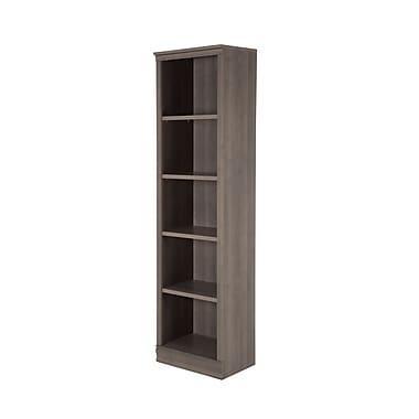South Shore Morgan 5-Shelf Narrow Bookcase, Grey Maple (10151)