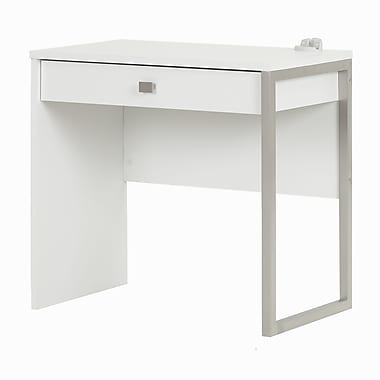 South Shore Interface Desk with 1 Drawer, Pure White (10535)