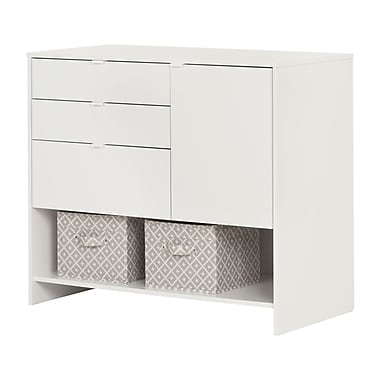 South Shore Crea Pure White Craft Storage Cabinet with Drawers (10490)