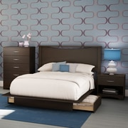 South Shore Step One 4-Piece Bedroom Set, Full, Chocolate (3159C4)