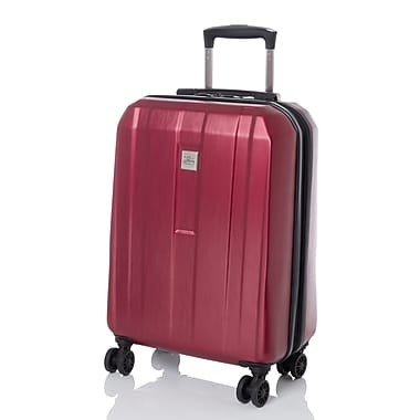 Skyway - Valise extensible à roulettes pivotantes multidirectionnelles, collection Finesse, rouge