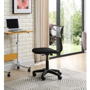 Hodedah Mesh Computer and Desk Office Chair, Armless, Gray (HI-3002 GREY)