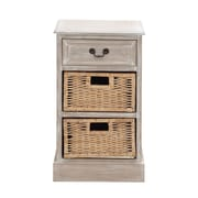 Woodland Imports The Simple Wood 2 Basket Chest