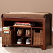 Alcott Hill Griffin Brook Wood Storage Entryway Bench by