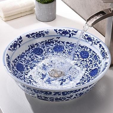 ANZZI Cadence Series Circular Vessel Bathroom Sink