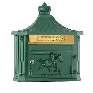 Salsbury Industries Locking Wall Mounted Mailbox; Green