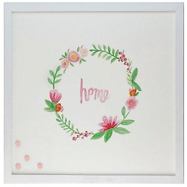 Petal Lane Watercolor Wreath Home Magnetic Memo Board ; 2' H x 2' W x 2'' D