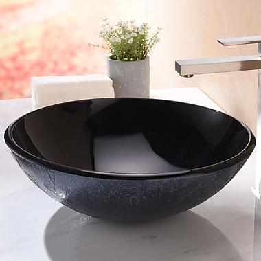 ANZZI Arc Series Circular Vessel Bathroom Sink