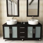 JWH Living 59'' Double Lune Bathroom Vanity Set