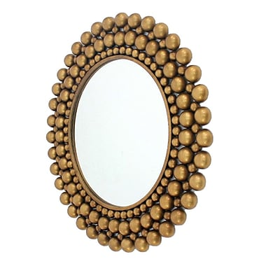 Wildon Home Cleo Wall Mirror; Gold
