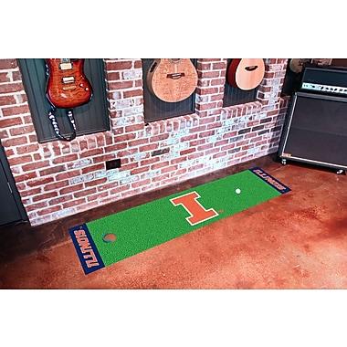 FANMATS NCAA University of Illinois Putting Green Doormat