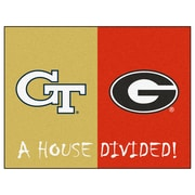 FANMATS NCAA House Divided: Georgia Tech / Georgia House Divided Mat