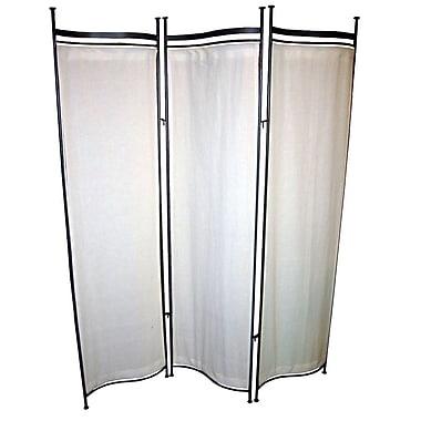 Pangaea 68'' x 58'' Privacy Screen 3 Panel Room Divider