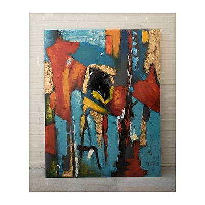 Wildon Home Gilded' Painting on Wrapped Canvas