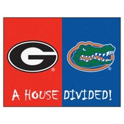 FANMATS NCAA House Divided: Georgia / Florida House Divided Mat