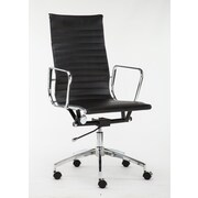 Winport Industries High-Back Executive Chair; Black