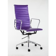 Winport Industries High-Back Executive Chair; Purple