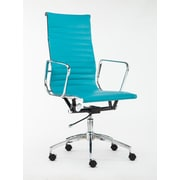 Winport Industries High-Back Executive Chair; Sky Blue