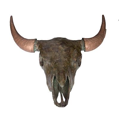 Wildon Home Buffalo Skull Bust; Nile Green