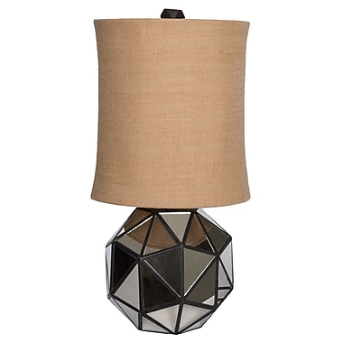 Wildon Home Faceted Aged Mirror 30'' Table Lamp