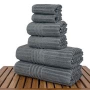 Bare Cotton Luxury Hotel and Spa 100pct Genuine Turkish Cotton 6 Piece Towel Set; Gray