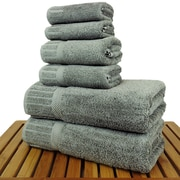 Bare Cotton Luxury Hotel and Spa 100pct Turkish Cotton 6 Piece Towel Set; Gray