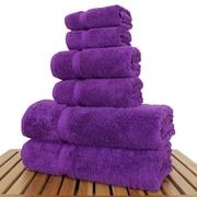 Bare Cotton Luxury 6 Piece Turkish Cotton Towel Set; Eggplant