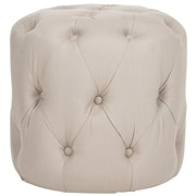 Darby Home Co Wolstonton Tufted Round Ottoman; Taupe