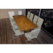 SolisPatio Lignum 11 Piece 7.9' Rectangular Conference Table Set; Gray