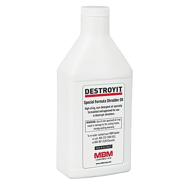 Destroyit Shredder Oil, 250 mL (OIL 250ML)