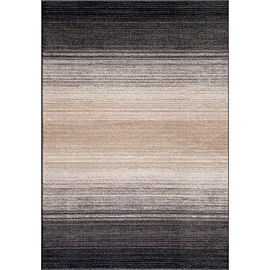 World Rug Gallery Quicksilver Gray/Black Area Rug; 2' x 3'