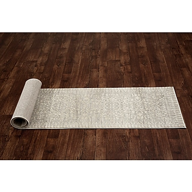 World Rug Gallery Avalon Gray Area Rug; Runner 2' x 7'2''