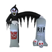 The Holiday Aisle Halloween Reaper and Tombstone Archway Inflatable