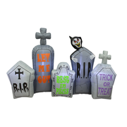 The Holiday Aisle Halloween Tombstone Pathway Inflatable
