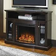 Charlton Home Batley Media 48'' TV Stand w/ Fireplace