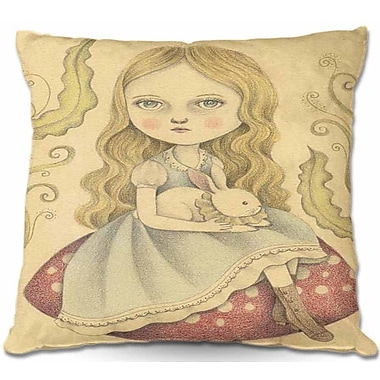 DiaNocheDesigns Alice Contemplating Throw Pillow; 22'' H x 22'' W x 5'' D