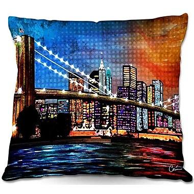 East Urban Home Bridge Throw Pillow; 22'' H x 22'' W x 5'' D