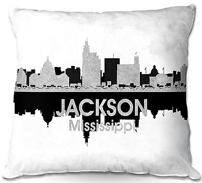 East Urban Home Jackson Mississippi Throw Pillow; 16'' H x 16'' W x 4'' D