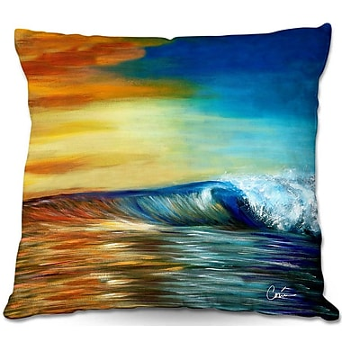 East Urban Home Wave Throw Pillow; 20'' H x 20'' W x 5'' D