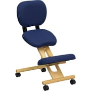 Offex Mobile Wooden Ergonomic High-Back Mesh Kneeling Chair