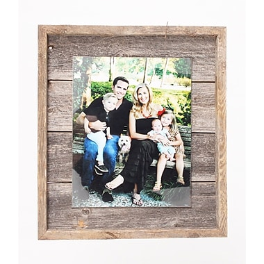 BarnwoodUSA Rustic Plank Picture Frame; 5'' x 7''