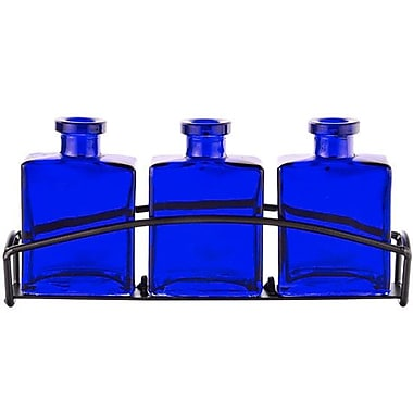 Couronne Rio 3 Recycled Glass Table Vase; Cobalt Blue