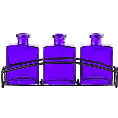 Couronne Rio 3 Recycled Glass Table Vase; Violet
