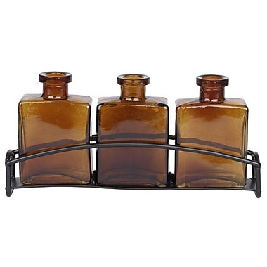 Couronne Rio 3 Recycled Glass Table Vase; Dark Amber